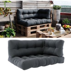Vicco Palettenkissen-Set Sitzkissen + Rückenkissen + Seitenkissen Flocke, verschiedene Farben