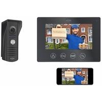 ELRO 1 Familienhaus IP Türsprechanlage mit Kamera & Monitor, Video Türklingel Schwarz
