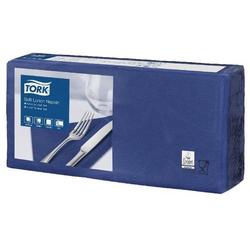 Tork Soft Lunchserviette dunkelblau 33 x 33 cm 1/4 Falz 1 x 150 Stck Tork Soft