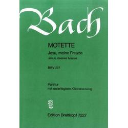 Jesu, meine Freude, Motette e-Moll BWV 227, Chorpartitur