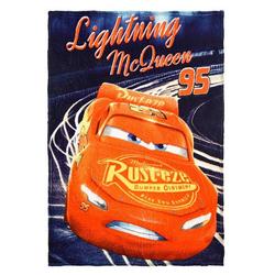 "Kinderbettdecke, Kinder Kuscheldecke ""Lightning McQueen 95"" - Fleece, 90 x 120 cm, navy, Disney Cars blau"