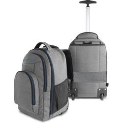 normani Daypack Rucksack mit Trolleyfunktion 30 Liter Yori, Trolley-Rucksack mit Rollen blau