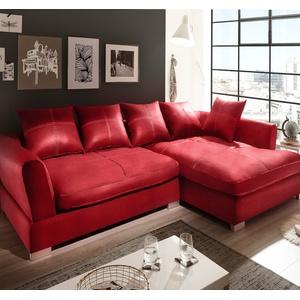 Design Couchgarnitur Rot Big Sofa K-Leder EckSofa Wohnlandschaft Megasofa Rechts