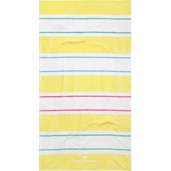 TOM TAILOR Strandtuch Streifen (1-St), mit unterschiedlichen Streifen gelb