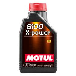 Motul 8100 X-POWER 10W60 Motorenöl, Hochleistungsmotorenöl empfohlen für Saug- oder Turbo-High Performance Motoren, 1000 ml - Kanister