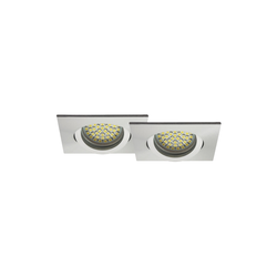 LED Einbaustrahler 2er-SET MR16, GU5.3 warmweiß, eckig 5W Marken-LEDs