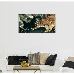 Posterlounge Wandbild, Ein Drache und zwei Tiger 160 cm x 80 cm