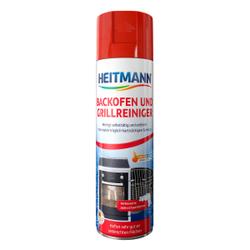 HEITMANN Backofen und Grillreiniger, Aktivschaum entfernt Eingebranntes, Fett und Schmutz, 500 ml - Dose