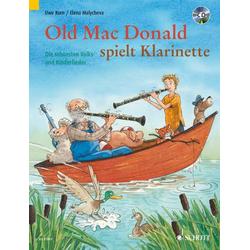 Old Mac Donald spielt Klarinette für 1-2 Klarinetten in B m. Audio-CD