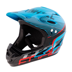 FORCE Fahrradhelm Downhill Tiger Helm blau L - XL