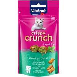 60g  VITAKRAFT Crispy Crunch mit Pfefferminzöl  Dental Katzensnacks