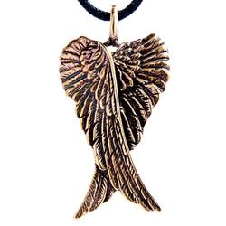 Kiss of Leather Kettenanhänger Engelsflügel Engel Flügel Engels Angel Bronze Anhänger