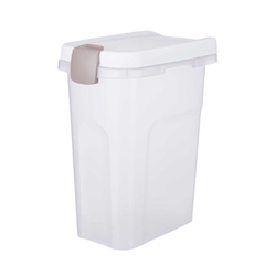 Trixie Futtertonne transparent-weiß/weiß, Maße: 22 x 41 x 33 cm