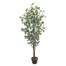 Kunstpflanze Eukalyptusbaum Eukalyptus Kunstbaum Künstliche Pflanze 140 cm Decovego, Decovego