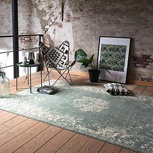 FRAAI Teppich Vintage - Wonder Grun - 185x275cm - Kurzflor - Antik, Vintage - Klassik, Orientalisch - Wohnzimmer, Esszimmer, Schlafzimmer