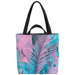 VOID Henkeltasche (1-tlg), Rosa Tropen Palmen Blätter Tropen tropisch Hawaii Urlaub reise Safari