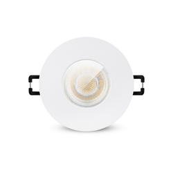 linovum LED Einbaustrahler LED Einbaustrahler IP65 warmweiß GU10 3W 230V - Einbauspot in matt weiß & rund