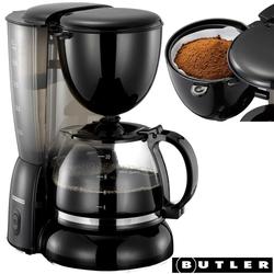 MELISSA Filterkaffeemaschine Butler 16100123 Kaffeemaschine für 10 Tassen Filterkaffee 1,25 Liter Design Kaffee-Automat schwarz, 1.25l Kaffeekanne