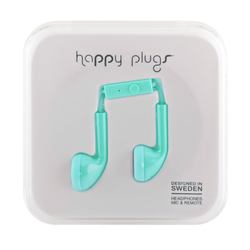 Happy Plugs iPhone Headset in türkis Smartphone-Headset