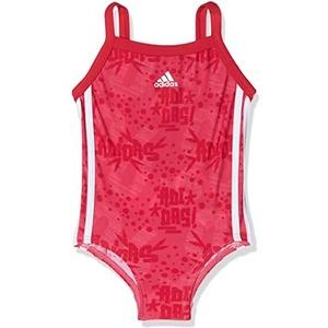 adidas Mädchen Badeanzug, Real Pink/White, 80