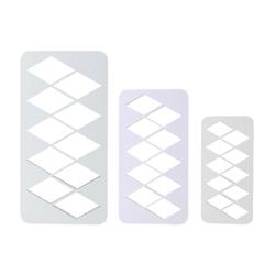 PME Geometrischer Multischneider Diamant 3 Stück
