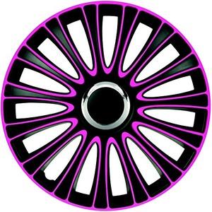 ZentimeX Z733004 Radkappen Radzierblenden universal 17 Zoll pink-Black