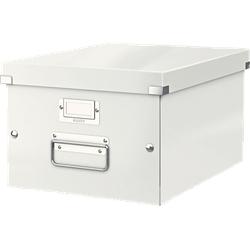 LEITZ 6044-00-01 CLICK&STORE Aufbewahrungs- und Transportbox mittel (Für A4) Aufbewahrungsbox Weiß