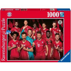 Ravensburger Puzzle FC Bayern Saison 20/21, 1000 Puzzleteile, Made in Germany, FSC® - schützt Wald - weltweit