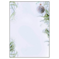 SIGEL Weihnachtsbriefpapier Winter Mood Motiv DIN A4 90 g/qm 100 Blatt