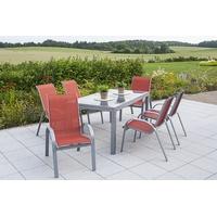 MERXX Amalfi Set 7-tlg. Tisch 220 x 90 cm inkl. Stapelsessel