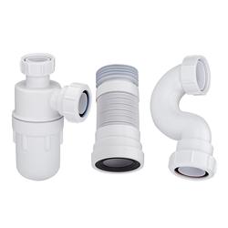 Kleiner Waschbecken-Siphon, Badewannen-Siphon und WC-Abflussrohr, von Hudson Reed