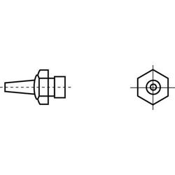 Weller R02 Heißluftdüse Heißluftdüsen Spitzen-Größe 0.8mm Inhalt 1St.