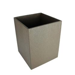 Signature Home Collection Papierkorb Papierkorb Kroko Kunstleder eckig Mülleimer, Papierkorb in Kroko Kunstleder: pflegeleicht & abwischbar braun