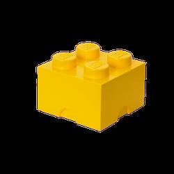 LEGO® Aufbewahrungsstein mit 4 Noppen in Gelb