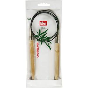 Prym 221540 Rundstricknadeln, 80 cm, 10,00 mm Rundstricknadel, Bambus, Natur, 10 mm
