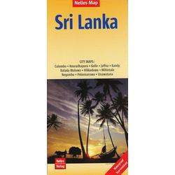 Nelles Map Sri Lanka Polyart-Ausgabe 1:500.000