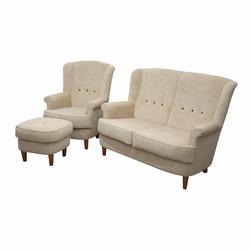 Komplet wypoczynkowy Galla sofa i fotel z podnóżkiem
