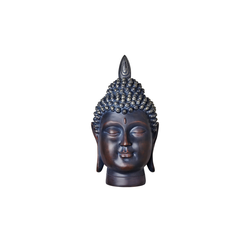 Basispreis* Buddhakopf ¦ braun ¦ Polyresin (Kunstharz) ¦ Maße (cm): B: 25 H: 43 T: 23