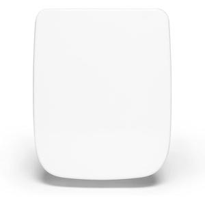 Bullseat® 6.1 WC Sitz weiß eckig • passend zu Keramag Renova Nr. 1 Plan • Absenkautomatik/Softclose • abnehmbar • click n' clean • Toilettendeckel überlappend • Klobrille • hochwertiges Duroplast