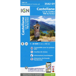 Castellane - Lac de Castillon 1 : 25 000