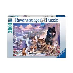 Ravensburger Puzzle Puzzle Wölfe im Schnee, 2.000 Teile, Puzzleteile