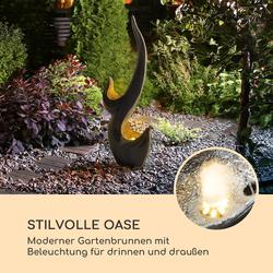 Arcadia Gartenbrunnen 10W LED-Beleuchtung Polyresin