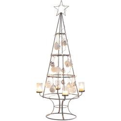 Teelichthalter Weihnachtsbaum, Metall/Glas