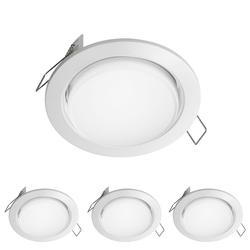 LED Einbauring Zobe slim GX53 weiß rund 4W=28W 280lm 107mm Ø Lochkreis 90mm Ø, 4 Stk.
