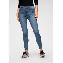 HaILY'S Skinny-fit-Jeans knöchelfrei blau L