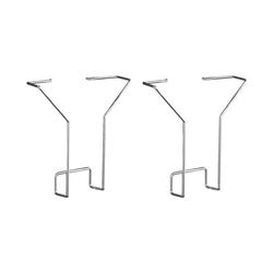 Prospektfach für Prospektständer »6923« silber, Kerkmann, 15.8x18x3.3 cm