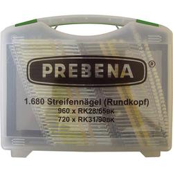 Prebena Rundkopf-Streifennägel Type RK 1680 St. RK-Box