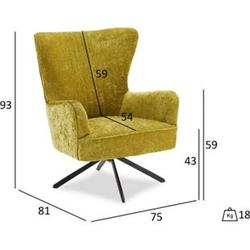 Bobby Sessel mit Drehfuss grün Fernsehsessel Relaxsessel Liegesessel Lounge