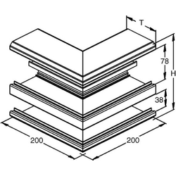 Niedax Alu-Außeneck DAA 170-78 P