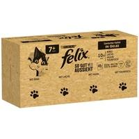 Felix So gut wie es aussieht in Gelee Senior Rind, Lachs, Huhn und Thunfisch 120 x 85 g